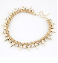 Ladygagadesigns - Gold Rhianna Spiked Necklace, $14.00 (http://ladygagadesigns.com/gold-rhianna-spiked-necklace/) #housewives #realhousewives #cheers #style #stylish #stunning #beautiful #cool #amazing #extraordinary #supercool #womenchoice