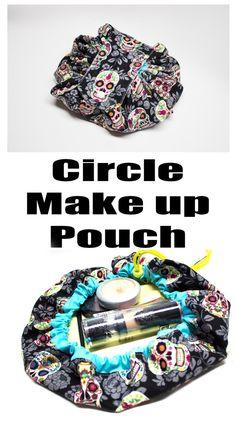 Make up Bag Diy Bag and Purse diy makeup bag Sewing Makeup Bag, Makeup Bag Pattern, Makeup Pouch, Drawstring Bag Diy, Drawstring Bag Pattern, Drawstring Bag Tutorials, Makeup Bag Tutorials, Sewing Tutorials, Diy Makeup Bag Tutorial