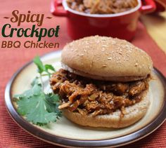 Spicy Crockpot BBQ Chicken... make with paleo bbq sauce!