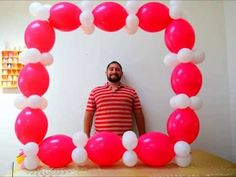 Balloon Photo booth prop tutorial How to make a balloon frame for photo opps…
