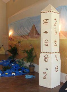 Oblisk from - Joseph's Journey - Egypt VBS (Vacation Bible School) Decor Set Design