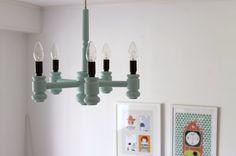 Tämmöinen lamppu on ollut lapsuudenkodissakin... Minttua pintaan?