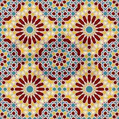 Moorish pattern Shower Curtain on CafePress.com