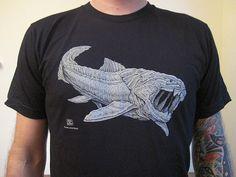 Dunkleosteus shirt, available at cottoncrustacean.com.