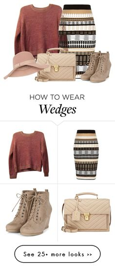 """""""Bez naslova #3419"""" by ramayanna on Polyvore featuring Topshop, River Island, Yves Saint Laurent and Accessorize"""