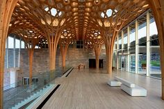 Shigeru Ban's Gorgeous Nine Bridges Golf Club House is Inspired by Traditional Bamboo Cushions