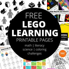Combine our LEGO learning pages with your favorite bricks and minifigs for awesome learning time your kids will love. Learning with LEGO is easy and fun!