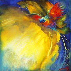 """""""Crimson Wings"""" by Jenni Kelly, available now as a fine art reproduction at http://www.artreproductions.com.au/gallery.php?artid=2955"""