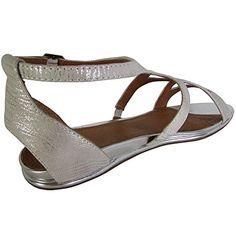 79252eb9ae63 Gentle Souls Womens Oak Dress Sandal Silver 55 M US     Read more reviews