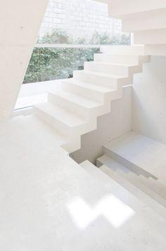 perfect white stairs #hallways