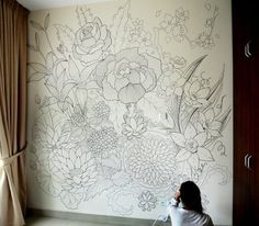 Get a fun interior look by using paint pens and one of our 15 amazing DIY Sharpie Walls featured on remodelaholic.com