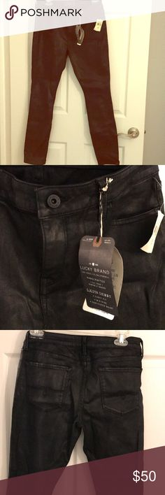 Lucky Brand black coated jeans Lolita skinny black coated jeans Curvy fit Mid rise Contoured waist Lucky Brand Jeans Skinny