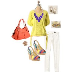Nine West Spring Brights Contest Entry, created by jennifoundinmycloset on Polyvore