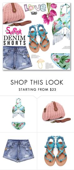 """""""Vacation :: Denim Cutoffs"""" by jecakns ❤ liked on Polyvore"""