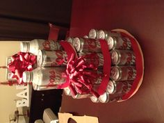Beer can cake I made  for the Hubs!