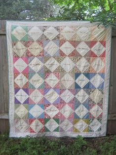 Grannie's Signature Quilt project on Craftsy.com.  Signatures would make a great memory quilt, and this one is really cute!