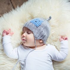Acorn Infant Cashmere Grey Beanie