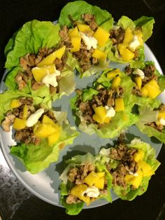 Cohen diet : Tuna in letuce tacos topped with mangoes and light mayo #coheifestyle #lynskitchen