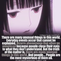 xxxHolic ~~ People are the most unusual of all. :: Yuuko