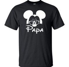 Men's Disney Shirt Grandpa Grandfather Mickey Mouse Glasses Tee