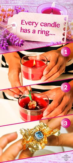 Each one of these beautiful Fragrant Jewels candles has a ring hidden inside the wax AND a chance to win a $10,000 diamond ring!