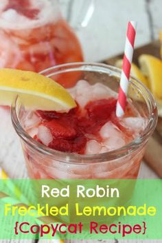 Red Robin Freckled Lemonade {Copycat Recipe}