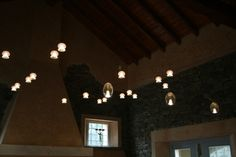 Orbite lighting system with Medusina and Patata lighting fixtures. Blown glass, made in Italy. Album lights