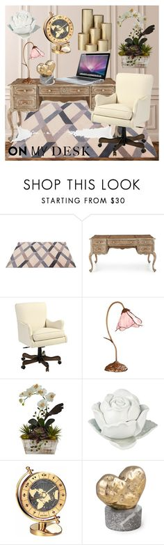 """Princess Desk!"" by mary63348-1 ❤ liked on Polyvore featuring interior, interiors, interior design, home, home decor, interior decorating, WALL, ABC Italia, Hooker Furniture and Ballard Designs"