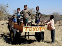 Toyota :) I'm not sure where exactly this is, but it so could be in South Africa. So funny - had to pin it! We Are The World, People Of The World, Land Cruiser, All About Africa, Toyota Hilux, Beautiful Children, South Africa, Monster Trucks, Funny Pictures