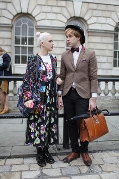 Granny-chic. London Fashion street style. They Are Wearing: London Fashion Week - Slideshow