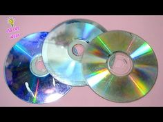4 BRILLIANT OLD CDS IDEAS! - YouTube Crafts With Cds, Cd Crafts, Recycled Crafts, Handmade Crafts, Paper Crafts, Diy Recycle, Recycling, Old Cds, Outside Decorations