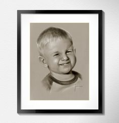 Portrait custom baby boy dry brush from photo by Jacek Jaskowiak Portraitsbuy