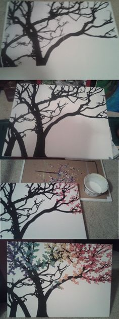 tree dot painting tutorial - Google Search