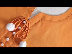 Simple Easy and Latest Neck Design for Kurti/Suit Cutting and Stitching - YouTube Chudidhar Neck Designs, Neck Designs For Suits, Neckline Designs, Dress Neck Designs, Sleeve Designs, New Kurti Designs, Simple Kurti Designs, Kurta Designs Women, Kurti Designs Party Wear