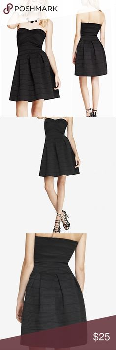 Black Express Elastic Dress New with Tags! Express Stretchy Strapless Elastic Party Dress. Size S Express Dresses Strapless