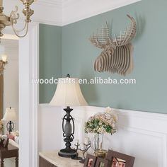 Crown stag carving in wood Animal wall decor, View decor wood crown, iWood Product Details from Guangzhou iWood Crafts Co., Limited on Alibaba.com