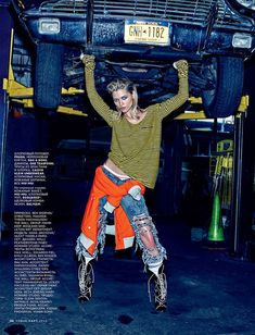 Hana Jirickova channels her inner tomboy for this editorial featured in the March 2016 issue of Vogue Russia. Photographed by Alexi Lubomirski, the blonde beauty poses in a garage setting wearing colorful looks from the spring collections. Rather than stick to just one gender, fashion editor Olga Dunina selected pieces from both the womenswear and …