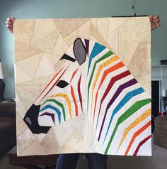 """Mega Zebra in Profile- A Pattern Release.From The Tartankiwi blog awesome zebra """"quilts"""". Congratulations everybody did a great job"""