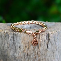 Alexandria Double-Link Chain Bracelet Rose Gold – Rustic Cuff