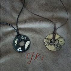 Handmade metal pendants and decorative elements