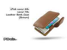 PDair iPod nano 8th / nano 7th Leather Book Case (Brown)
