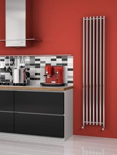 Only Radiators offers this Reina Broni Stainless Steel Vertical Designer Radiator to you at this great price, get top Customer Care & Free UK Delivery Stainless Steel Radiators, Stainless Steel Railing, Lounge Colour Schemes, Radiators Uk, Steam Shower Cabin, Tall Cabinet Storage, Locker Storage, Vertical Radiators, Towel Radiator