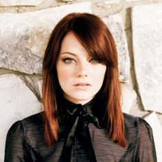 red hair. emma stone.