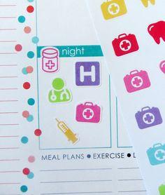 Assorted Doctor/Dentist/Appt Stickers for Erin Condren Planner Filofax Plum Paper (4.00 USD) by KGPlanner