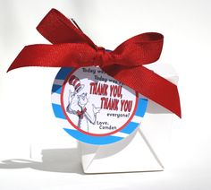 DR. SEUSS Birthday Favor Label / Tag by ConfettiPrintsShop on Etsy, $7.50