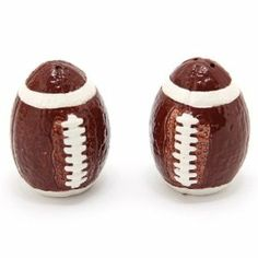 Boston Warehouse Touchdown Salt and Pepper Set by Boston Warehouse. $9.95. Dishwasher safe; hand wash recommended. Score the winning touchdown with Boston Warehouse's touchdown salt and pepper shaker set. Set of salt and pepper shakers with super fun football design. Perfect tabletop accessories for the ultimate football fan in your life. Made of durable and long lasting earthenware. Whether it's the super bowl or your state's college rivals going head to head, you'll make th...