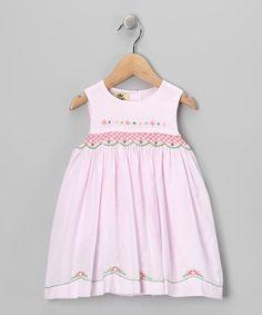 Look at this #zulilyfind! Pink & Green Floral Dress - Infant & Toddler #zulilyfinds