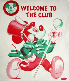 Walt Disney Mickey Mouse Club Coloring Book 1955 Whitman by ddb7, $25.00