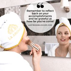 Female entrepreneur lady boss blogger Adriana Aronet Microfiber Luxury Hair Towel