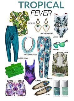 SUMMER 2013 - TROPICAL FEVER SHOPPING SELECCION  http://www.fashionaporterbypepa.com/2013/05/summer-2013-tropical-fever-shopping.html